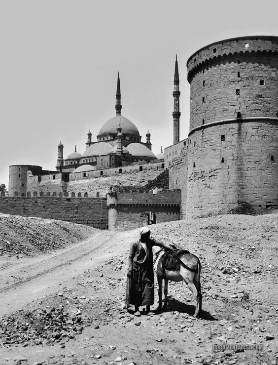 The Salaheddin Citadel and Mohamed Ali Mosque at the beginning of the 20th century