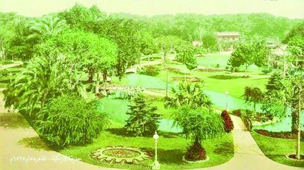 Azbakiya garden in Cairo in 1895