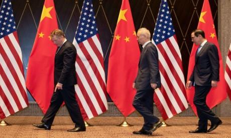 US Trade Representative Robert Lighthizer, Treasury Secretary Steven Mnuchin and Vice Premier Liu He