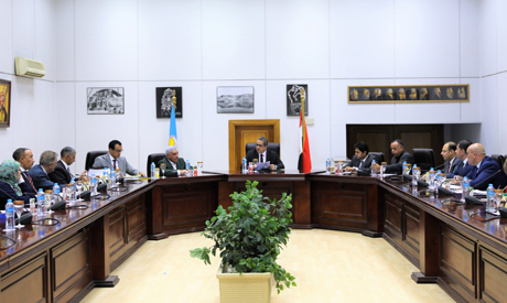 Minister of Antiquities Khaled El-Enany during the meeting