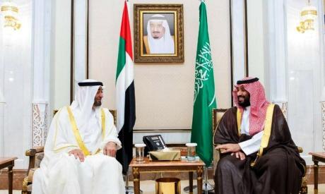 Mohamed Bin Salman and Sheikh Mohammed bin Zayed Al-Nayhan