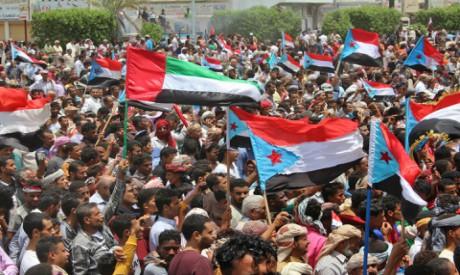Yemeni Southern separatists supporters