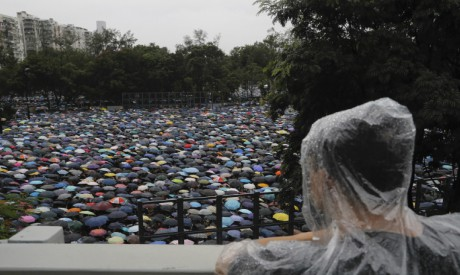 Protesters gather in Hong Kong