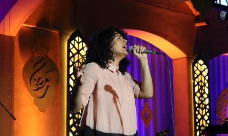 Dina El-Wedidi during her Ramadan concert at the Cairo Opera House, Tuesday 21 May 2019 (Photo: Esla