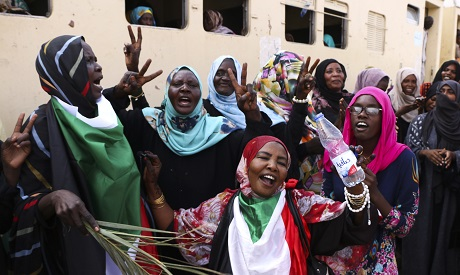 Sudanese pro-democracy supporters