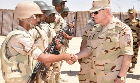 Army chief of staff Farid in N.Sinai
