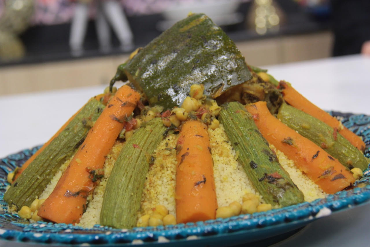 Moroccan couscous with vegetables and meat