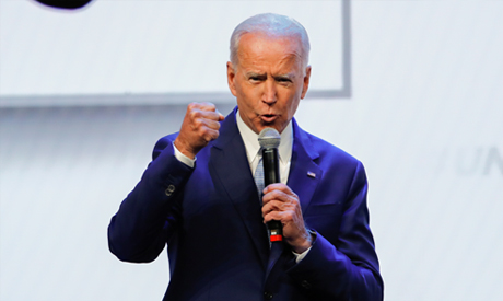 Democratic 2020 presidential candidate and former U.S Vice President Joe Biden speaks at the UnidosU
