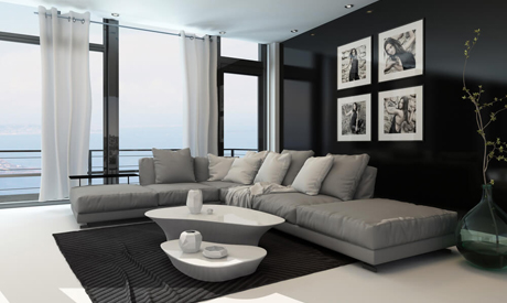 Interior Design And The New Black Style Life Style