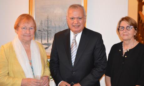 President of the Helsinki University Board of Trustees Tarja Halonen, former Foreign Minister Mohame