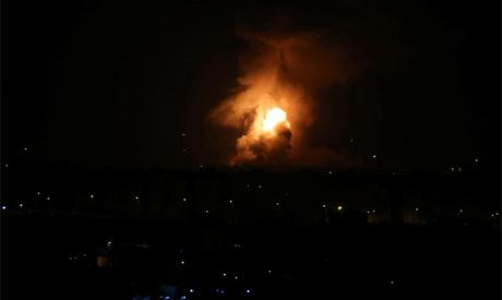 Flame and Somke (Gaza)