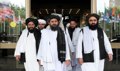 Members of a Taliban delegation