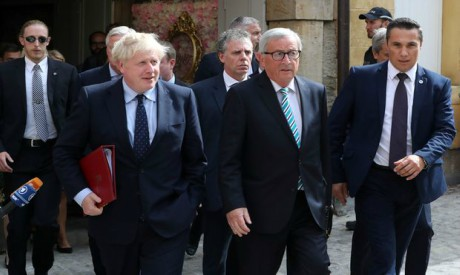 Jean-Claude Juncker and Boris Johnson