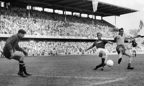 Lev Yashin kept goal for the Soviet Union at the 1958 World Cup in Sweden. He played in two more Wor
