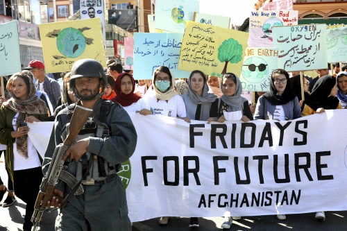 Climate Strike rally in Afghanistan