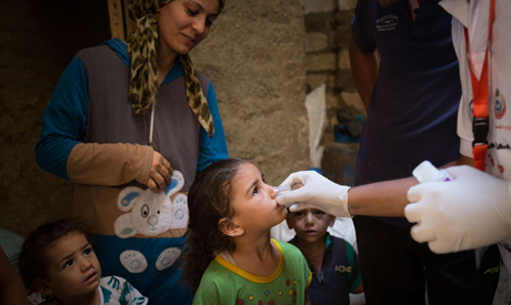 doses of antibiotic to children in Matay , combating trachoma