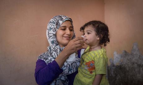 doses of antibiotic to children in Matay , combating trachoma