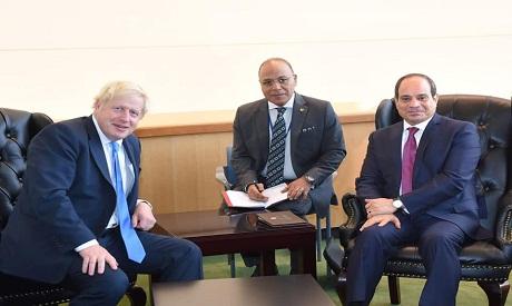 Abdel-Fattah El Sisi meets Boris Johnson