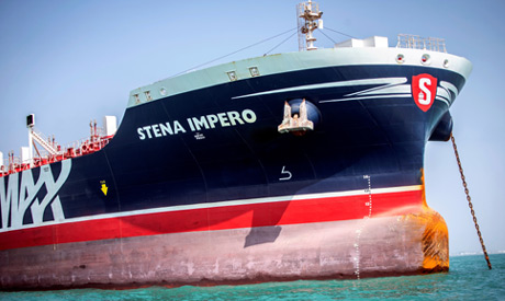 FILE PHOTO: Stena Impero, a British-flagged vessel owned by Stena Bulk, is seen at undisclosed place