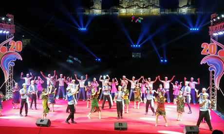 Opening ceremony of Ismailia International Folklore Festival in Ismailia stadium,in Ismailia, Egypt