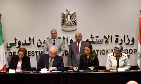 The signing of the Egyptian-Italian agreement on Thursday