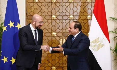 Sisi and Charles Michel