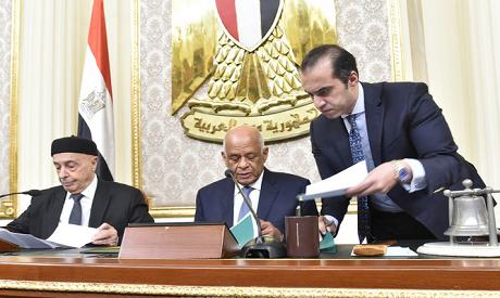 Aqila Saleh and Ali Abdel Aal