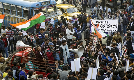 A protest in India
