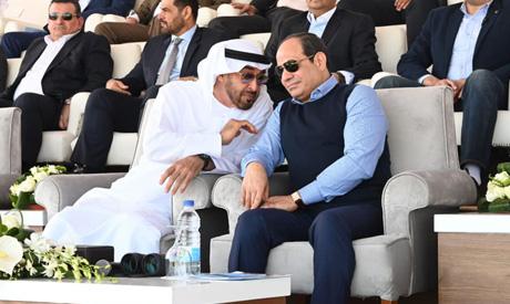 President Abdel Fattah El Sisi and Abu Dhabi Crown Prince Mohammed bin Zayed Al Nahyan