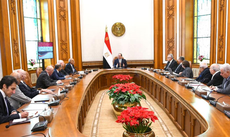 Sisi meets presidential advisory council