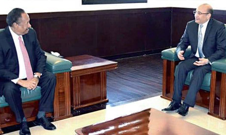 Alaa Thabet with Sudanese PM