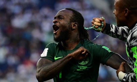 Victor Moses represented Nigeria at the 2018 World Cup (AFP)