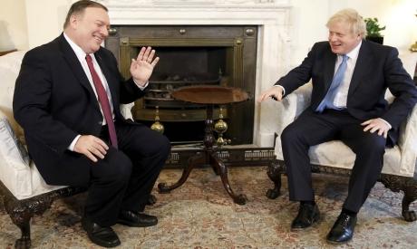 Mike Pompeo and Boris Johnson