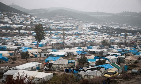 Camp of Syrian refugees