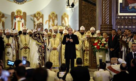 Al-Sisi attends Christmas mass