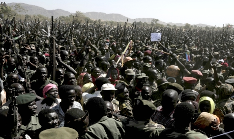 Supporters of Sudan Liberation Movement