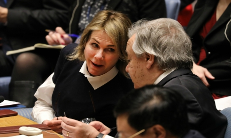 António Guterres and Kelly Craft