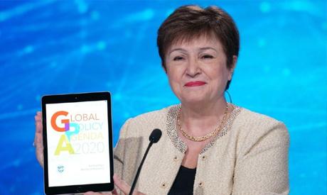 IMF' Managing Director Kristalina Georgieva during the press briefing held on Wednesday
