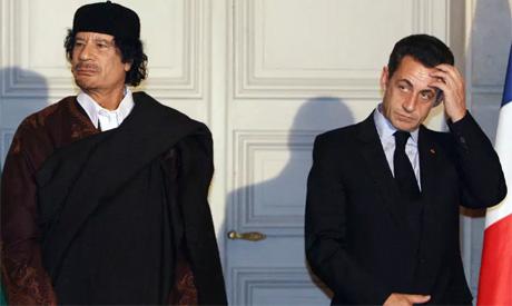Sarkozy,Gaddafi