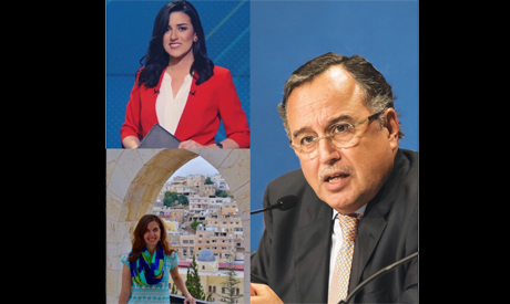 Rawan Lasheen (top left), Elena Habersky (bottom left) and Nabil Fahmy