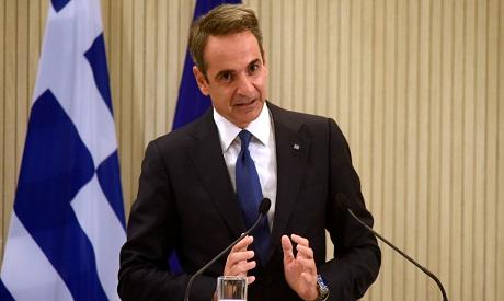 Greek Prime Minister Kyriakos Mitsotakis . AFP