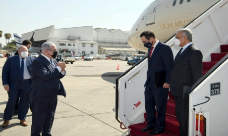 Netanyahu receives Steve Mnuchin and Obaid Humaid al-Tayer