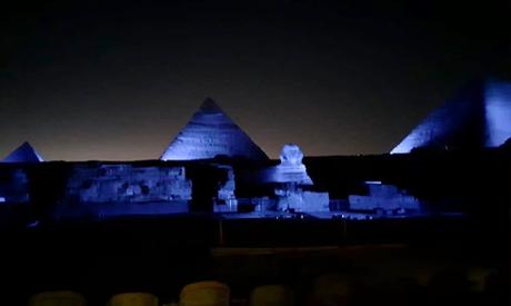 Egypt lights Pyramids
