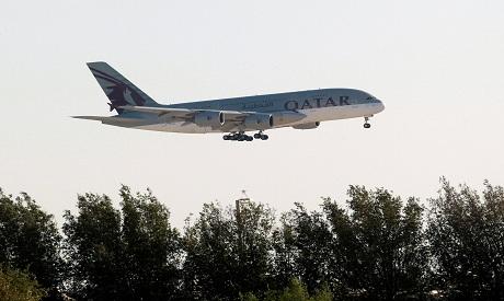 A Qatar Airways Airbus A380-800 plane
