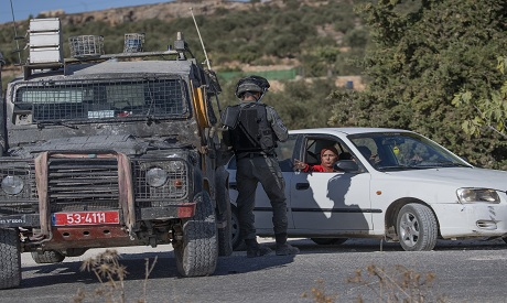 Israeli border police in the West Bank village of Burqa, East of Ramallah, Friday AP Photo