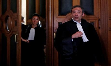 French lawyer Laurent Bayon, who defends Rwandan genocide suspect Felicien Kabuga