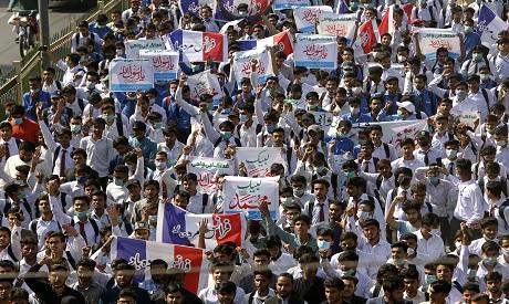 Pakistan protest over cartoon AP