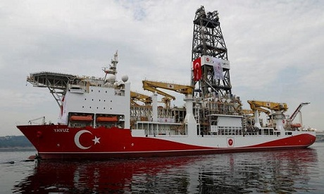 Turkish drill ship heads back to Turkey from off Cyprus