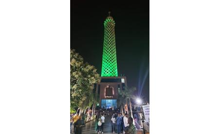 Lighting Cairo Tower