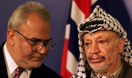 Saeb Erekat and Yasser Arafat